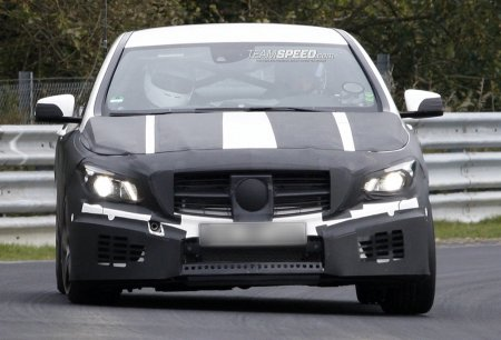 Mercedes-Benz CLA AMG был замечен на трассе Нюрбургринг